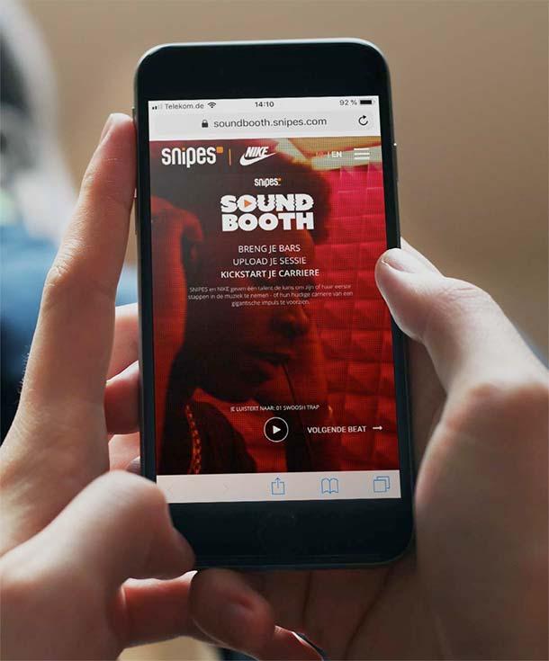 Referenz Nike Snipes Soundbooth