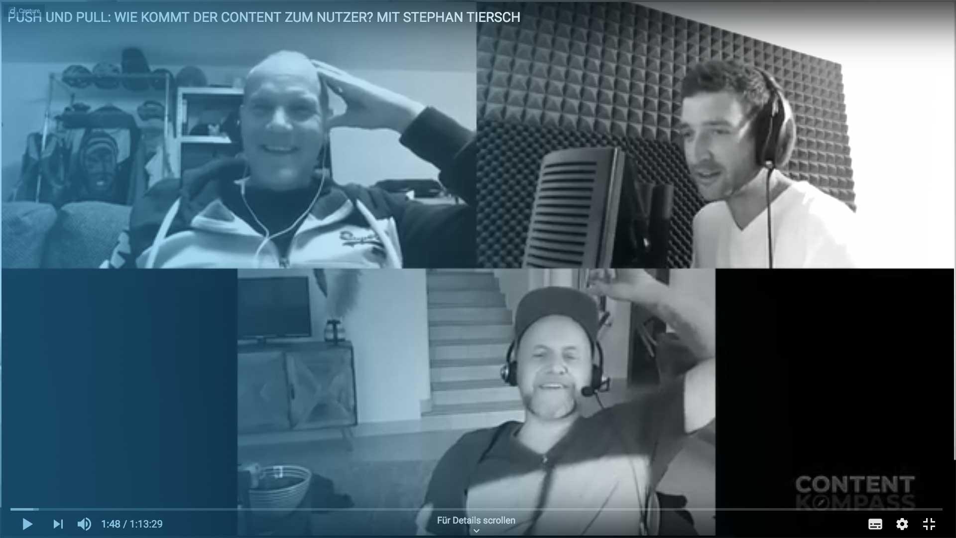 """Bild Push- und Pull: Wie kommt der Content zum Nutzer? – Stephan Tiersch mit Olaf Kopp im """"Content-Kompass""""-Podcast"""